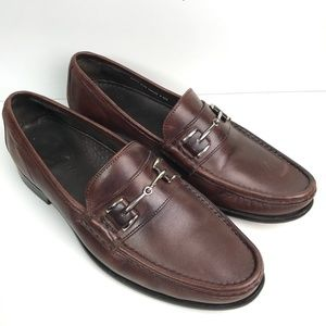 COLE HAAN Air Aiden Bit Brown Leather Loafers 9.5